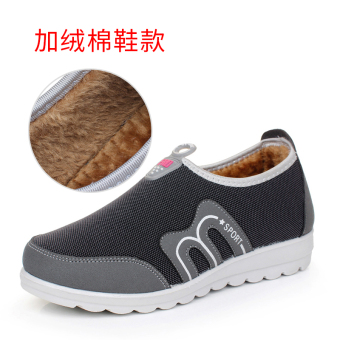 Old Beijing spring New style Plus-sized flat casual sports shoes Shoes (M696 gray)