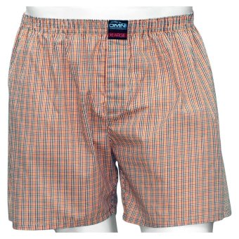 Omni By SO-EN Men's Checkered Boxer Short (Orange 2)