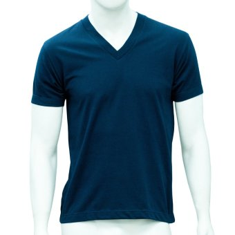 Omni By SO-EN Men's V-Neck T-Shirt (Navy Blue)