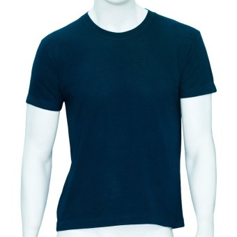 Omni By SO-EN Men's Round Neck Cotton T-Shirt (Navy Blue)