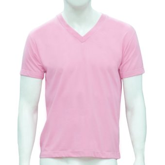 Omni By SO-EN Men's V-Neck T-Shirt (Pink)