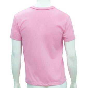 Omni By SO-EN Men's V-Neck T-Shirt (Pink) - 4