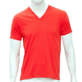 Omni By SO-EN Men's V-Neck T-Shirt (Red) Price Philippines