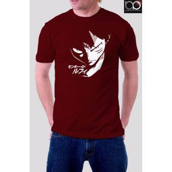 One Piece Anime T-shirt for Men (Maroon)