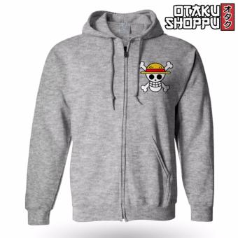 One Piece Zip-Up Outdoor Hoodie Jacket (Gray)