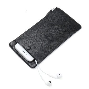 OR Ultra-thin Zipper Mobile Phone Leather Wallet - intl