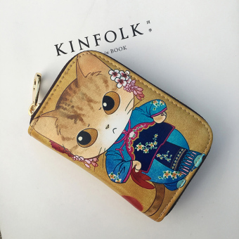 Organ zip small card holder (Cat girl)