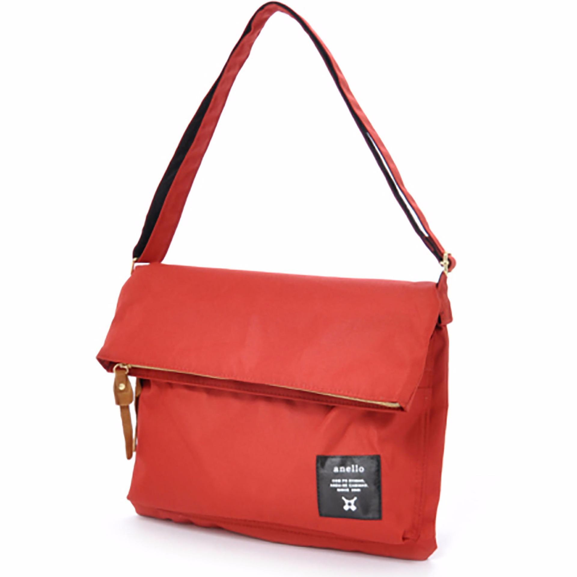 Original Anello Mouth Fold Shoulder Bag AT-B1227 (Dark Orange)