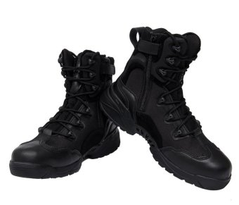 Outdoor Desert Combat Army Boots Tactical Police Boot For Men Black
