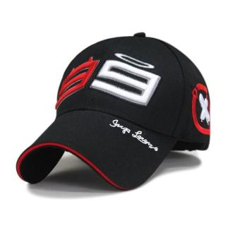 Outdoor Trucker Hat 99 Jorge Lorenzo Embroidery Hats for Men RacingCap pure Cotton Sports Motorcycle Racing Baseball Caps Sun BaseballCaps (black) - intl
