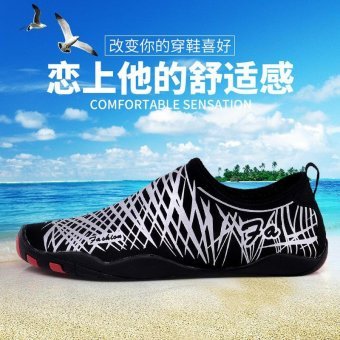 Outdoor white Mens Water Shoes Aqua Socks Sports Walking Shoes -intl