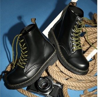 Outlet Martin boots female British boots Black Price Philippines