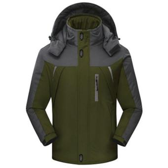 Outwear Waterproof Coats Men Jacket Windproof Thermal Hooded CoatWinter Jacket Men Wind Parka - intl