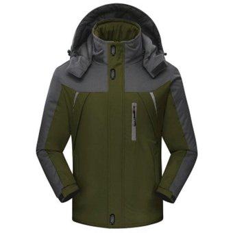 Outwear Waterproof Coats Men Jacket Windproof Thermal Hooded CoatWinter Jacket Men Wind Parka - intl - 3