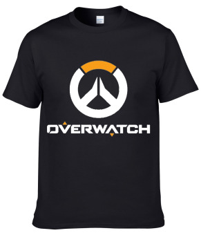 Overwatch T shirt 100% Cotton Game OW Casual Shirt Round Neck clothing ( Black ) - intl