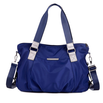 Oxford Cloth large capacity large bag women's bag (Blue)