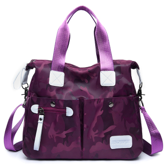 Oxford Cloth women large bag canvas bag (Purple)