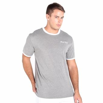 OXYGEN Ringer Tee with Embroidery (Gray)