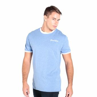 OXYGEN Ringer Tee with Embroidery (Navy Blue) - 2