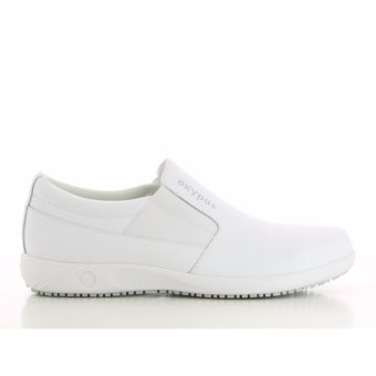 Oxypas ROY (White) Sporty Men's Leather Loafers Shoes or Doctors, Nurses, Medical & Healthcare Professionals, Hospital, Chef, Kitchen, Spa, Laundry, Hotel, Beauty & Wellness Personnel - 2
