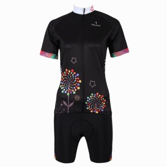 PALADIN SPORT Women's Cycling Short Sleeve Jersey and Pants Set (Black) - Intl - picture 2