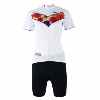 PALADIN SPORT Women's Cycling Shorts and Jersey Set (White) - Intl - picture 2