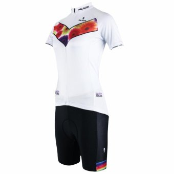 PALADIN SPORT Women's Cycling Shorts and Jersey Set (White) - Intl