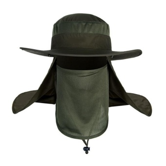 PAlight Men Fishing Visor Hat UV Protection Face Neck Outdoor Hiking Cover Sunscreen Cap - intl