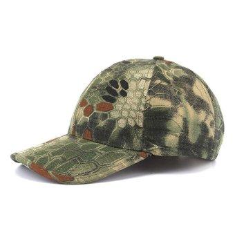 PAlight Outdoor Caps Visor Tactical Camouflage Printed Hat Sun-shading Baseball Cap - intl