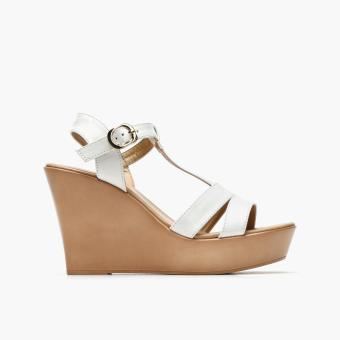 Parisian Ladies Stella Wedge Sandals (White) Price Philippines