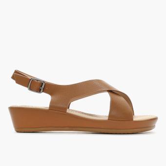 Parisian Ladies Ukee Flat Sandals (Camel)