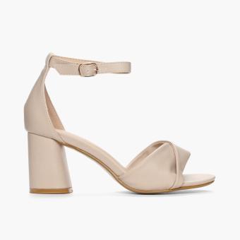Parisian Ladies Velma Chunky-Heeled Sandals (Nude)