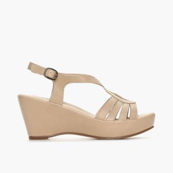 Parisian Ladies Vinnie Wedge Sandals (Beige) Price Philippines