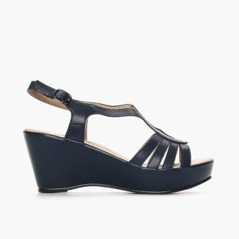 Parisian Ladies Vinnie Wedge Sandals (Navy Blue) Price Philippines