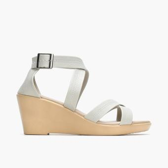 Parisian Ladies Vita Wedge Sandals (Bone) Price Philippines