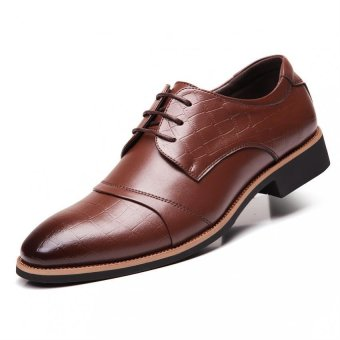 PATHFINDER Men Formal Shoes Leather Business Shoes (Brown)