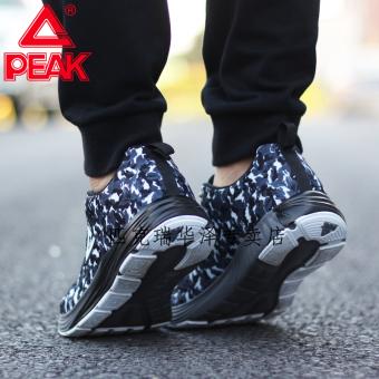 Peak autumn New style wear non-slip breathable sports shoes men's shoes (Steel gray/Black)