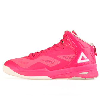 Peak autumn non-slip wear and hight-top sports shoes basketball shoes (Rose)