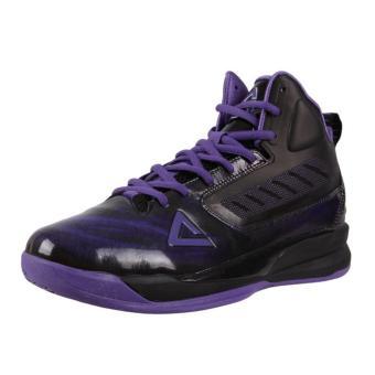Peak Men's High-Cut Basketball Shoe Eagle 1 [Black/Violet] E34001A