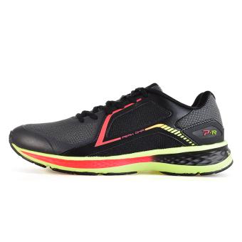 Peak mesh lightweight cushioning running shoes men's shoes sports shoes (Black/flourescent yellow)