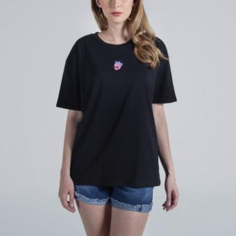 Penshoppe Boyfriend Fit Tee With Embroidery (Black) Price Philippines