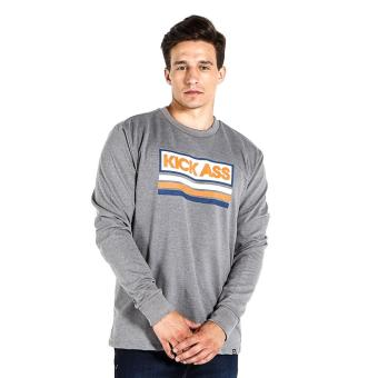 Penshoppe French Terry Pullover With Graphic Print (Gray)