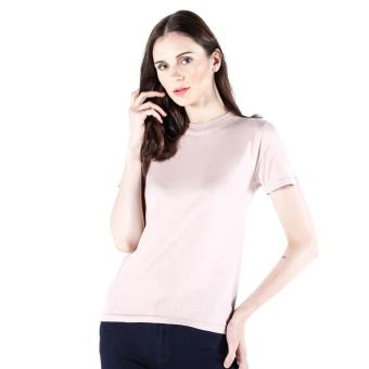 PENSHOPPE Funnel Neck Long-Sleeved Loose Knit Top (Blush)