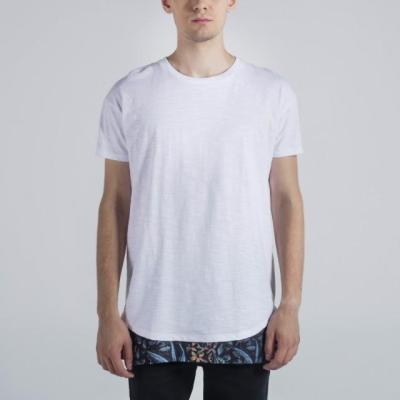 Penshoppe Longline Tee With Two-Fer Detail (White)