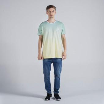 Penshoppe Oversized Tee With Graphic Print (Sea Green)