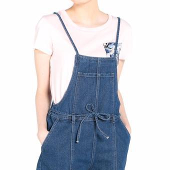 Penshoppe Regular Fit Jumper Shorts With Frayed Hem (Blue) - 5
