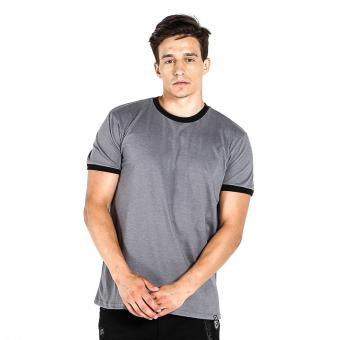Penshoppe Semi Fit Tee With Contrast Trim (Gray)