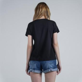 Penshoppe Semi Fit Tee With Graphic Print (Black) - 3
