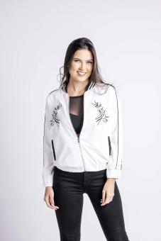 Penshoppe Souvenir Jacket With Embro (White)