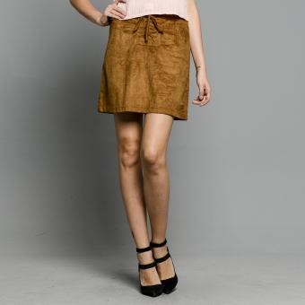 PENSHOPPE Suede Skirt (Camel)